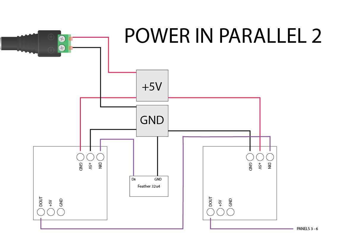 Power for Neopixel Cube on